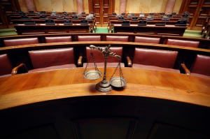 scales of justice courtroom