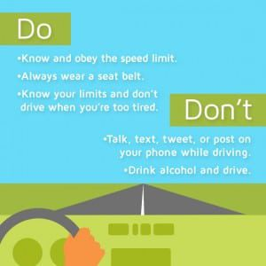 Do and Don't of driving