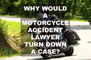 Attorney Chris Lewis on Motorcyle