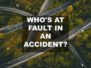 Who's at Fault in an Accident